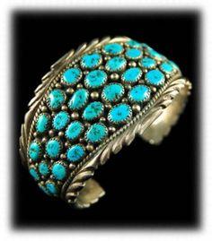Cer Navajo Turquoise Bracelet Kingman Gemstone C