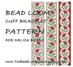 Bead Loom Cuff Bracelet Pattern Vol.32  The by thebeadloomgallery