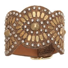 Calleen Cordero Gold Tania Leather Cuff Bracelet – Favery