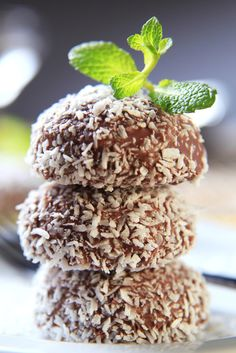 Bee Pollen Chocolate Coconut Truffles