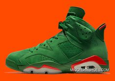 Air Jordan 6 NRG Gatorade Pine Green Orange Blaze 335 Basketball Shoe For Sale Big Boys Youth/Jeunesse Shoes Ankle Sneakers, Best Sneakers, Slip On Sneakers, Leather Sneakers, Sneakers Nike, Michael Jordan Shoes, Air Jordan Shoes, Fashion Boots, Sneakers Fashion