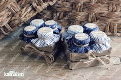 www.kamalion.com.mx - Mesa de Recuerdos / Giveaways / Detalles Personalizados / Vintage / Azul / Blue  / Mermelada / Jam / Wood / Madera / Kit de Mermeladas / Frascos / Salsas / Jars / Favors / Bautizo / It's a boy.