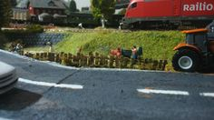 wooden fence on diorama