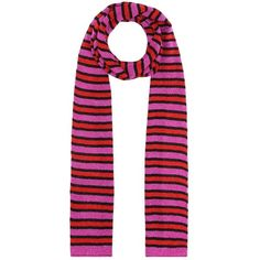 Missoni Striped Metallic Scarf ($260) ❤ liked on Polyvore featuring accessories, scarves, pink, pink scarves, missoni scarves, striped shawl, missoni shawl and pink shawl