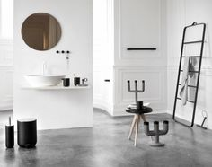 'Minimal Interior Design Inspiration' is a biweekly showcase of some of the most perfectly minimal interior design examples that we've found around the web - Norm Architects, Home, Minimalism Interior, Bathroom Inspiration, Bathroom Decor, Bathrooms Remodel, Beautiful Bathrooms, Interior Design Inspiration, Bathroom Design