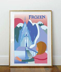 Disney's Frozen vintage movie poster