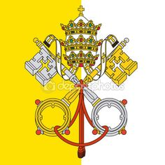Vatican city, holy see coat of arms — Stock Vector © frizio #92311304