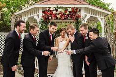 Look at that bling! #groomsmen #bride #blingbling