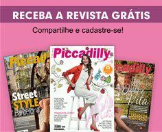 ALEGRIA DE VIVER E AMAR O QUE É BOM!!: BRINDES E AMOSTRA GRÁTIS #16 - REVISTA PICCADILLY