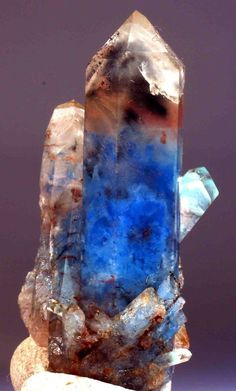 Quartz with Papagoite and Hematite from Messina Area, Messina, South Africa (collection privèe)