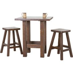 Superbe Rustic Timbers Barnwood Pub Table Set