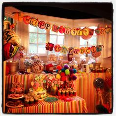 Candy party birthday party theme