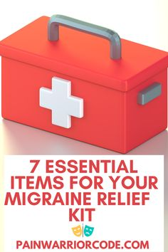 Here are 7 essential items for your migraine relief kit. These items are perfect to have at home or at work for those unexpected attacks! Chronic Migraines, Chronic Illness, Chronic Pain, Migraine Attack, Hypermobility, Migraine Relief, Blog Online, Mental Health Awareness, Disability
