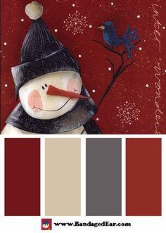 110338259592140574 Christmas Color Palette: Winter Wonderland, Art Print by Jill Ankrom