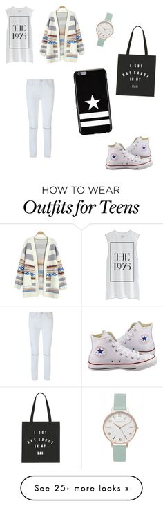 """Casual"" by nurfaidah-dara-rizki on Polyvore featuring Rebecca Minkoff, Converse, Givenchy and Olivia Burton"