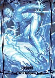 Iceman by Joe Jusko Comic Movies, Comic Book Characters, Comic Books, Ice Powers, Marvel Cards, Days Of Future Past, Psylocke, Marvel X, Xmen