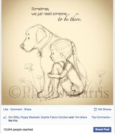 Thanks for sharing! Art Drawings Sketches, Animal Drawings, Easy Drawings, Pencil Drawings, Dog Quotes Love, Mom Quotes, Art Du Croquis, Art Mignon, Girl And Dog