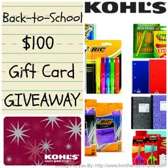 Kohls $100. Gift Card Giveaway! 08/11 - Tales From A Southern Mom