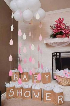 24 insanely cool baby shower decoration ideas - HomeDesignInspired - this is . - 24 Insanely Cool Baby Shower Decoration Ideas – HomeDesignInspired – This is a very important a - Decoracion Baby Shower Niña, Idee Baby Shower, Baby Shower Prizes, Baby Shower Gender Reveal, Baby Shower Gift Bags, Baby Shower Balloon Ideas, Cloud Baby Shower Theme, Cute Baby Shower Ideas, Baby Girl Babyshower Ideas