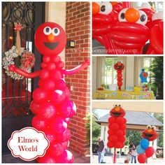 Elmo balloons for Elmo's number one fan. A precious two year old boy. #elmoballoons #elmo #balloonsjacksonville #sesamestreet