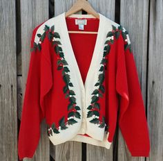 Vintage Women's Ugly Christmas Sweater  Red by TomieHarleneVintage, $16.00