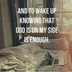 God is on my side