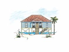 Eplans Low Country House Plan - Pier Home for Lakefront or Seashore - 1260 Square Feet and 3 Bedrooms from Eplans - House Plan Code HWEPL10418