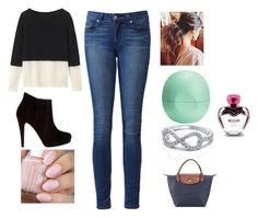 """""""Untitled #35"""" by sselmanagic on Polyvore featuring Paige Denim, Bonbons, Toast, Eos, Longchamp and Moschino"""