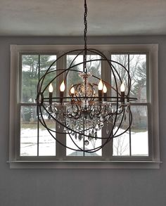 Add drama to your entry house of cline design featuring morgan by south shore decorating blog what i love wednesday my new foyer chandelier restoration aloadofball Gallery