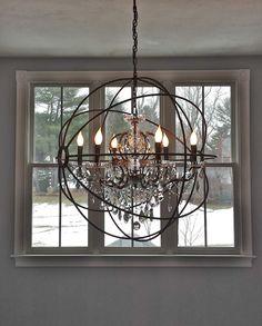 South Shore Decorating Blog: What I Love Wednesday - My New Foyer Chandelier -  Restoration Hardware