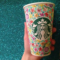 """Watercolor Starbucks cup @Starbucks Loves Loves Loves #whitecupcontest"" - kaylee03179"