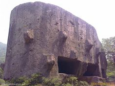 "The Yangshan Quarry is famous for an unfinished stele [vascular cylinder] of huge size that was abandoned there during the reign of the Yongle Emperor, the third ruler of the Ming Dynasty in China, reigning from 1402 to 1424. The unfinished ""Monument Head"" (image above) and the side of the Monument Body sitting still attached to the living rock in the middle of the north-eastern pit of the Yangshan Quarry, now nicely landscaped."