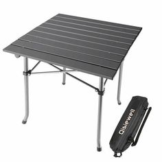 Qisiewell Camping Table Aluminum Outdoor Folding Beach Table Compact Lightweight Portable Picnic Table for Indoor and Outdoor Camping Picnic Beach Swimming Hiking BBQ Climbing Fishing with Storage Bag Portable Picnic Table, Table Camping, Folding Camping Table, Outdoor Camping, Camping Outdoors, Aluminum Folding Table, Outdoor Folding Table, Burning Man, Bbq Supplies