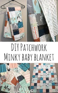DIY patchwork minky baby blanket