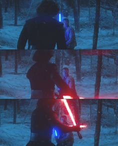 Kylo v Finn AKA the moment everyone flipped out when they first watched the trailer.