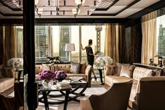 A Lady in Presidential Suite Living Room by Four Seasons Hotel Pudong, Shanghai, via Flickr
