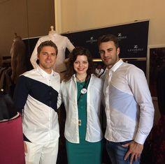 Brice Leverdez et Joachim Persson en compagnie de Chloé Levine, grande actrice en devenir