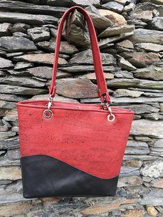 Sac Samba liège luxe rouge cousu par Elise - Patron Sacôtin