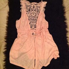 Crochet back tie front cardigan In beautiful condition! Charlotte Russe Tops