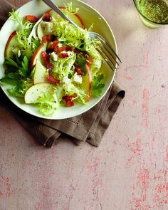 Pear and Frisee Salad with Bacon and Blue Cheese - Martha Stewart Recipes