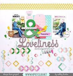 Another fabulous inspiration today with this beautiful LO created by designer . Based on our March sketch that you can find on our Hipkit member forum Created with kits :: Hip Kit Club, Image Layout, Choose Joy, Lucky Star, Photo Layouts, Happy Spring, Layout Inspiration, Finding Joy, Smash Book