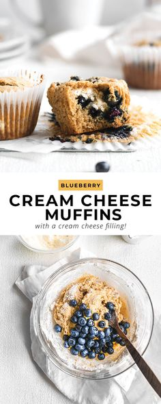 Say hello to the most delicious blueberry cream cheese muffins you've ever seen. These blueberry muffins are made with a simple cream cheese filling, making them extra decadent!
