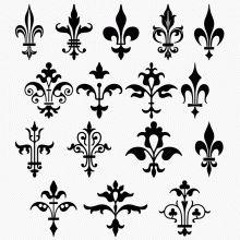 Second row far right Design Fonte, 2d Design, Scroll Design, Border Design, Design Elements, Pattern Design, Stencil Patterns, Stencil Designs, Embroidery Designs