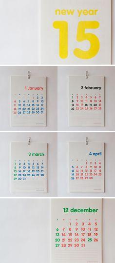 WALL CALENDAR 구성 15년 1월부터 12월 사이즈 297x410mm 판매처 밀리미터밀리그… Graphisches Design, Book Design, Print Design, Graphic Design, Calendar Design, Food Calendar, 2015 Calendar, Adobe Illustrator Tutorials, Printable Paper