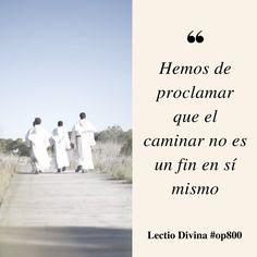 Hemos de proclamar que el caminar no es un fin en sí mismo #LectioDivina #op800