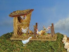 Fontanini Bird Shelter Building Italian Nativity Village Figurine Size H x W x D Made of resin/wood Christmas Nativity Scene, Christmas Villages, Christmas Wood, Christmas Crafts, Christmas Decorations, Nativity Sets, Nativity Crafts, Janmashtami Decoration, Fontanini Nativity