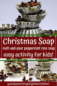 Soap making with kids is a fun and educational experience. Here's 3 unique soapmaking recipes for the holidays; easy directions, skincare tips Christmas Soap, Christmas Crafts For Kids, Handmade Christmas, Christmas Traditions Kids, Family Traditions, Art Activities For Kids, Creative Activities, Science Activities, Thanksgiving Activities