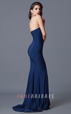 Ambitious Sleeveless Trumpet Long Jersey Dress With Zipper Back – June Bridals