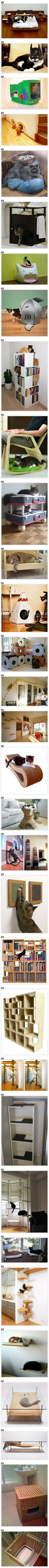 Is your cat needy and hard to please? Here are some geeky pieces of furniture, gadgets, and accessories designed specifically for your feline friends. *this is super cool