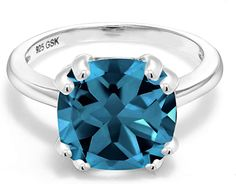 Best Seller Gem Stone King 925 Sterling Silver London Blue Topaz Women's Engagement Ring Cttw, Cushion Cut, Gemstone Birthstone, Available online – Onlineshoppingoffers – Famous Last Words Buy Gems, Cushion Cut Diamonds, London Blue Topaz, Blue Topaz Ring, Engagement Rings, Gemstones, Sterling Silver, Beautiful, Jewelry King